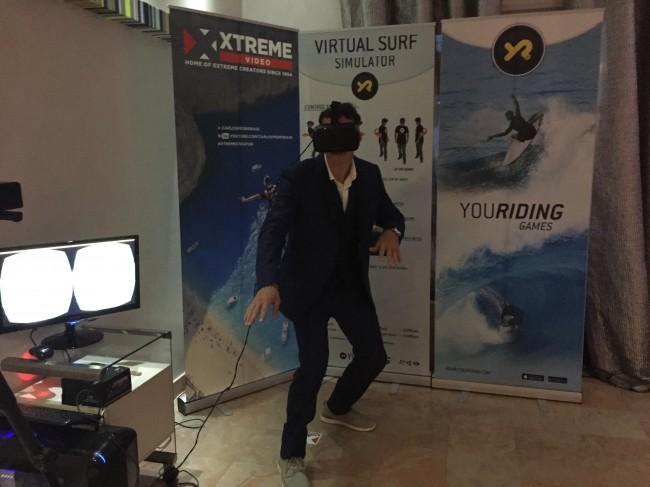 VR surf simulator