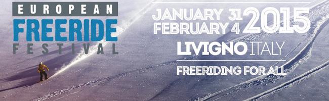 European Freeride Festival Livigno banner